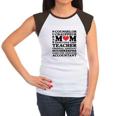 Mom's Jobs Mother's Day Women's Cap Sleeve T-Shirt