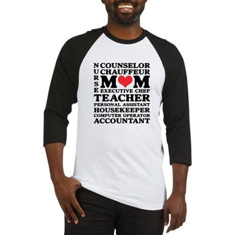 Mom's Jobs Mother's Day Baseball Jersey