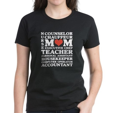 Mom's Jobs Mother's Day Women's Dark T-Shirt