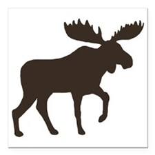 "moosebrown Square Car Magnet 3"" x 3"""