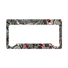 Toiletry Black Paisley License Plate Holder