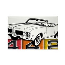 autonaut-olds-442-001 Rectangle Magnet