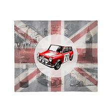 616 Union Jack Mini Montage for Cafe Throw Blanket