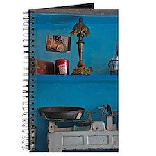 Amorgos. Family keepsakes adorn shelves in Journal