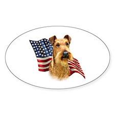 Irish Terrier Flag Oval Decal