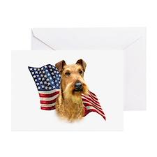 Irish Terrier Flag Greeting Cards (Pk of 10)