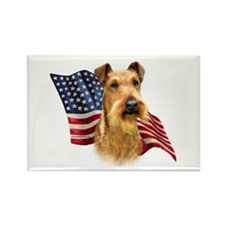 Irish Terrier Flag Rectangle Magnet