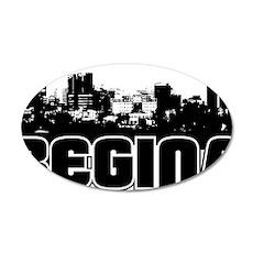 Regina Skyline 35x21 Oval Wall Decal