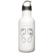 run_naked_dkbkg Water Bottle