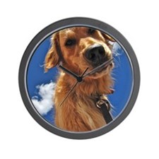 GOLDEN RETRIEVER T-SHIRT Wall Clock