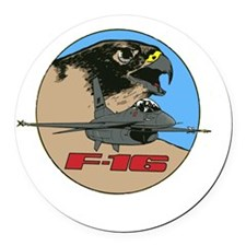 F-16 Falcon Round Car Magnet