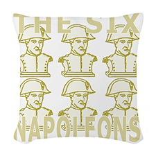SixNapoleons_gold Woven Throw Pillow
