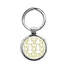 SixNapoleons_gold Round Keychain