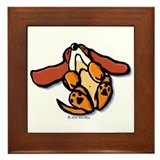 Hound Dog Tired Framed Tile
