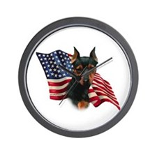 Min Pin Flag Wall Clock