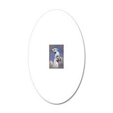 llama mama1 20x12 Oval Wall Decal