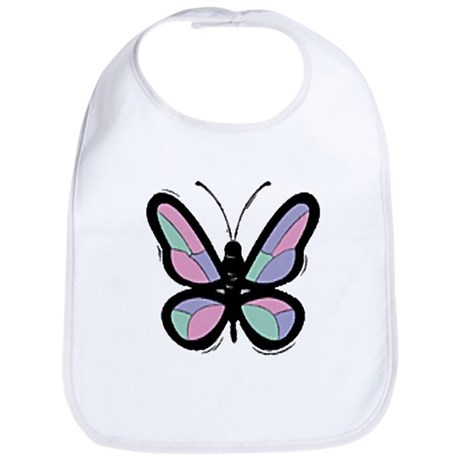 Patchwork Butterfly Bib