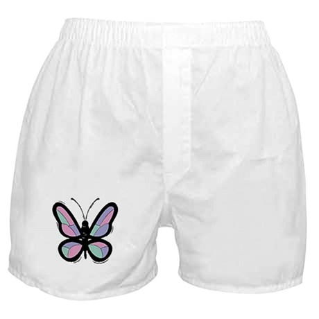 Patchwork Butterfly Boxer Shorts