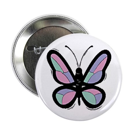 Patchwork Butterfly 2.25&quot; Button (10 pack)