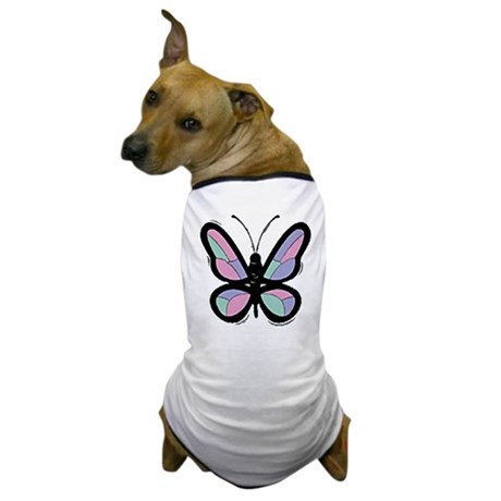 Patchwork Butterfly Dog T-Shirt