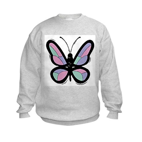 Patchwork Butterfly Kids Sweatshirt