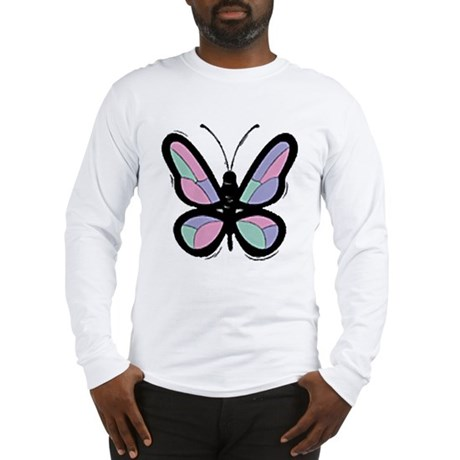 Patchwork Butterfly Long Sleeve T-Shirt