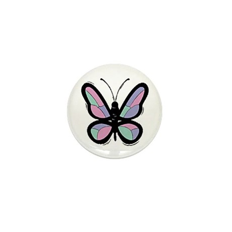 Patchwork Butterfly Mini Button