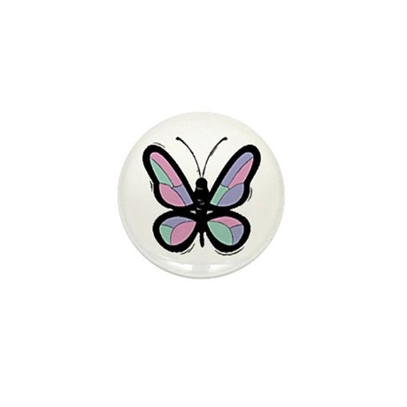 Patchwork Butterfly Mini Button (10 pack)