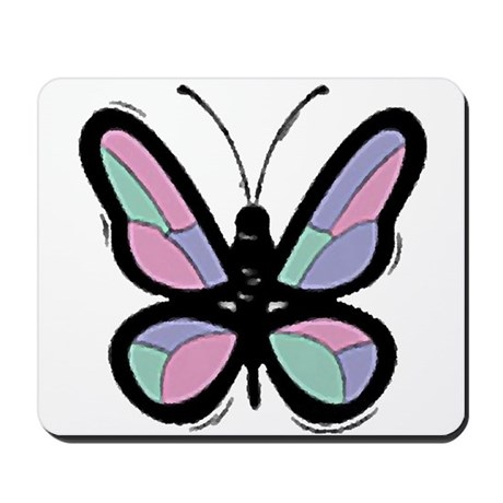 Patchwork Butterfly Mousepad