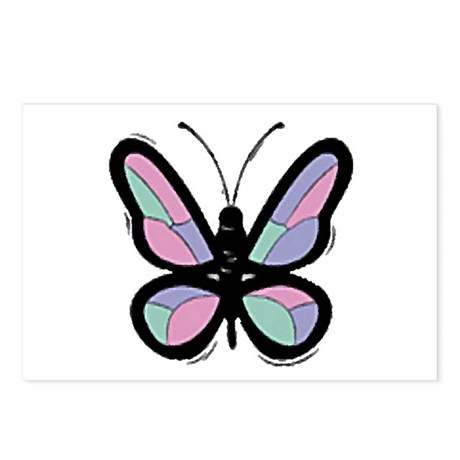 Patchwork Butterfly Postcards (Package of 8)