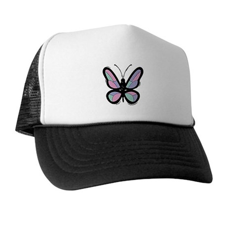 Patchwork Butterfly Trucker Hat