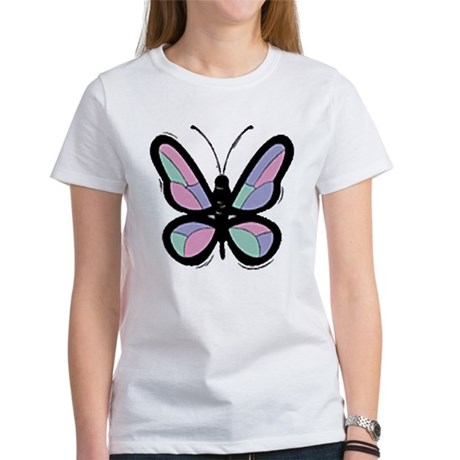 Patchwork Butterfly Women's T-Shirt