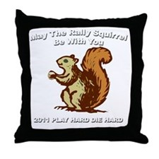 Rally be with you Dark copy Throw Pillow