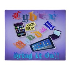 Yard Sign Cyber Monday-Bring It On!2 Throw Blanket