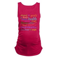 fitness words Maternity Tank Top