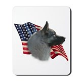 Elkhound Flag Mousepad