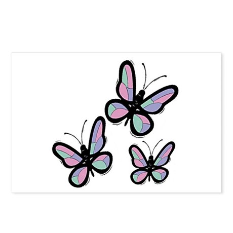 Patchwork Butterflies Postcards (Package of 8)