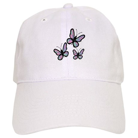 Patchwork Butterflies Cap