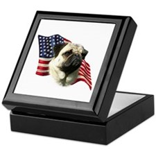 Pug Flag Keepsake Box