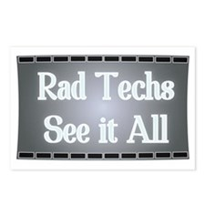 X-Ray Film: Rad Techs See Postcards (Package of 8)