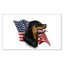 Rottweiler Flag Rectangle Decal