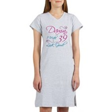 39th Birthday Humor Women's Nightshirt