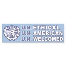 Bumper Sticker: U.N. Ethical