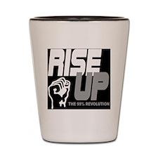rise up the 99% revolution 1 Shot Glass