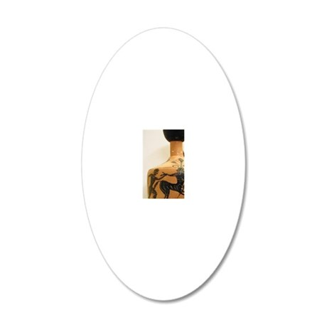 Lekythos black-figure with s 20x12 Oval Wall Decal