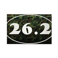 26_2_camo Rectangle Magnet