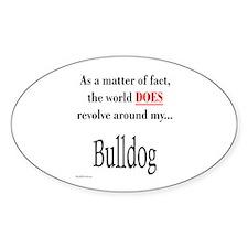 Bulldog World Oval Decal