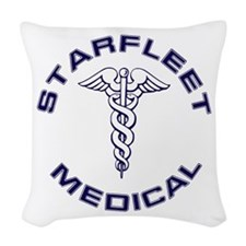Starfleet Medical Transparent Woven Throw Pillow