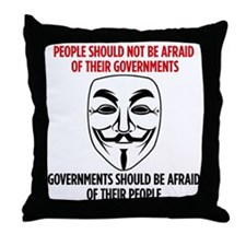 V Mask Throw Pillow