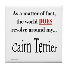 Cairn Terrier World Tile Coaster
